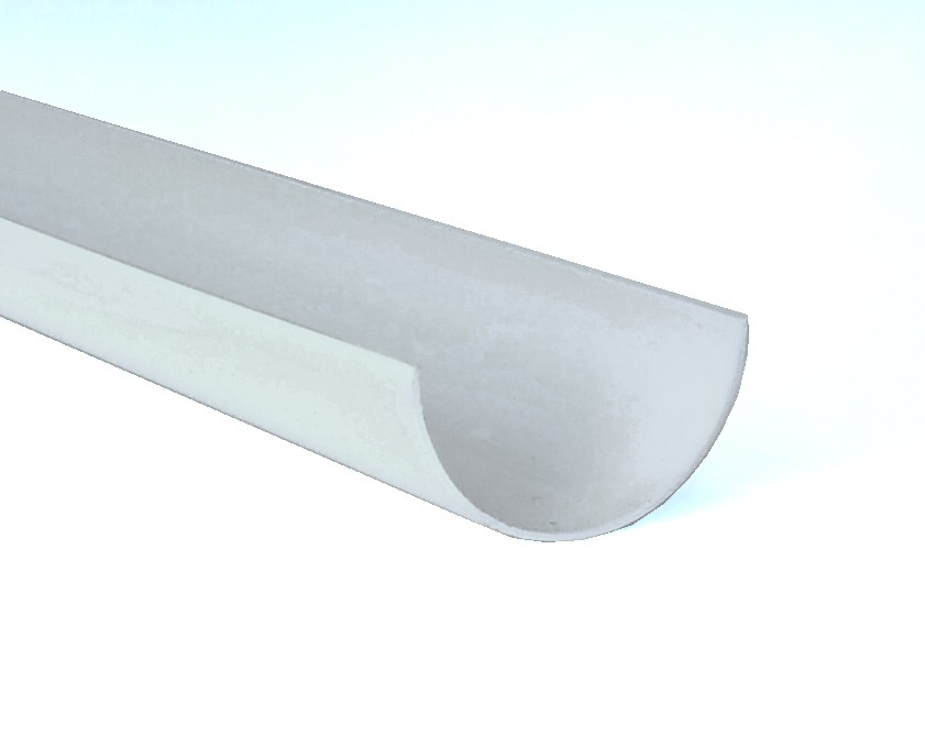 112mm Half Round Gutter 4m Length White