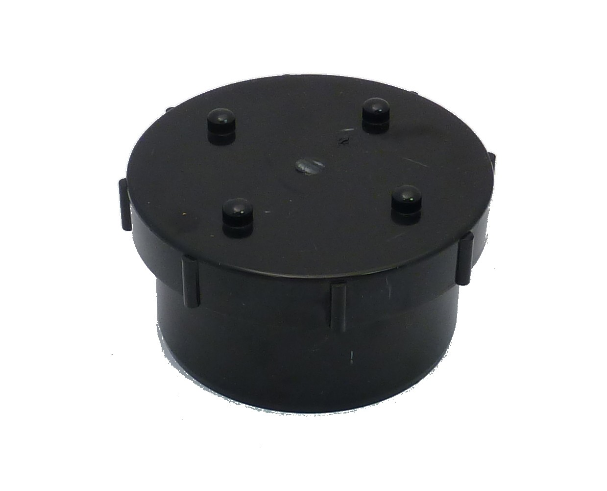 110mm Soil Pipe Screw On Access Cap Black