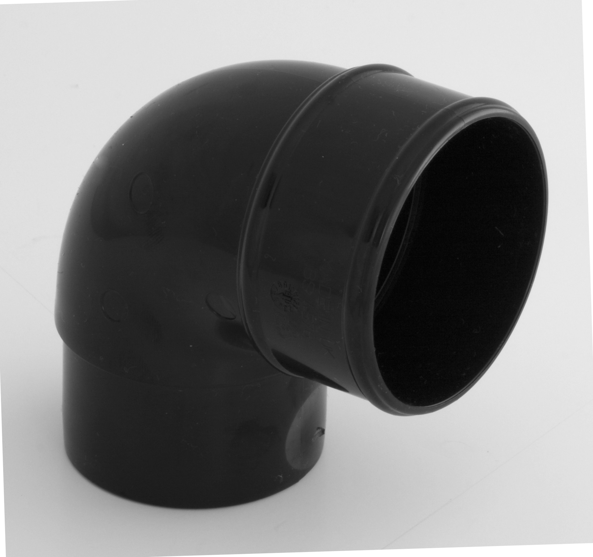 68mm Round Downpipe 92 5 176 Bend Black Round Downpipes