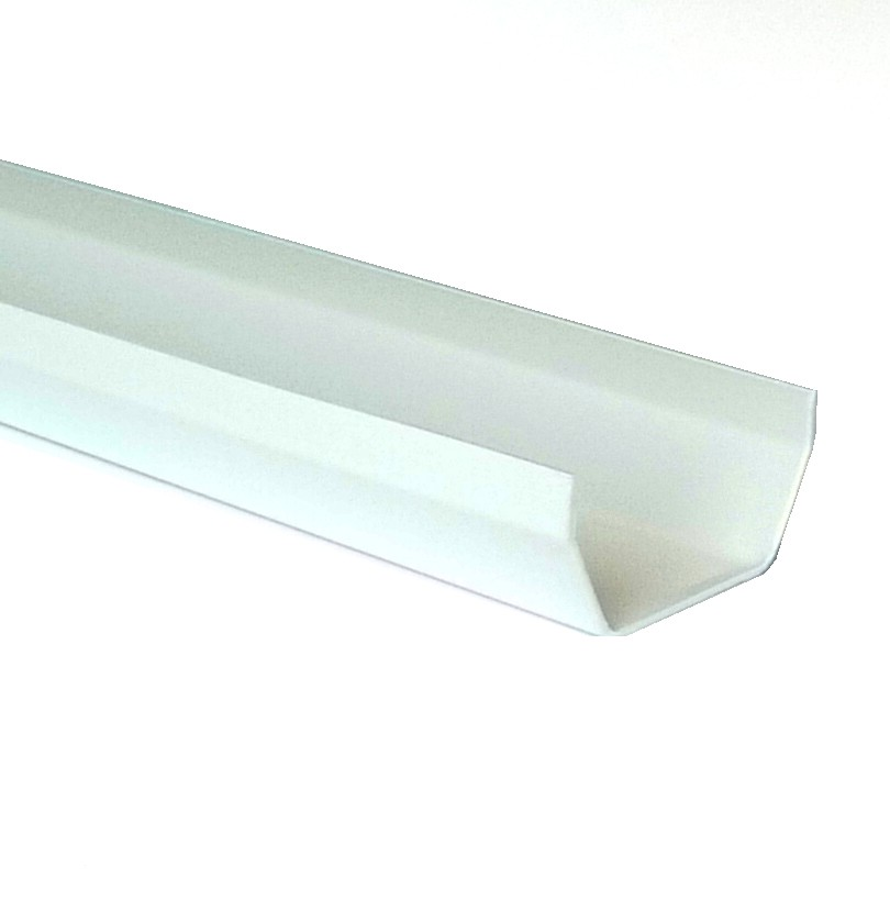 117mm Square Gutter 4m Length White Square Gutter White