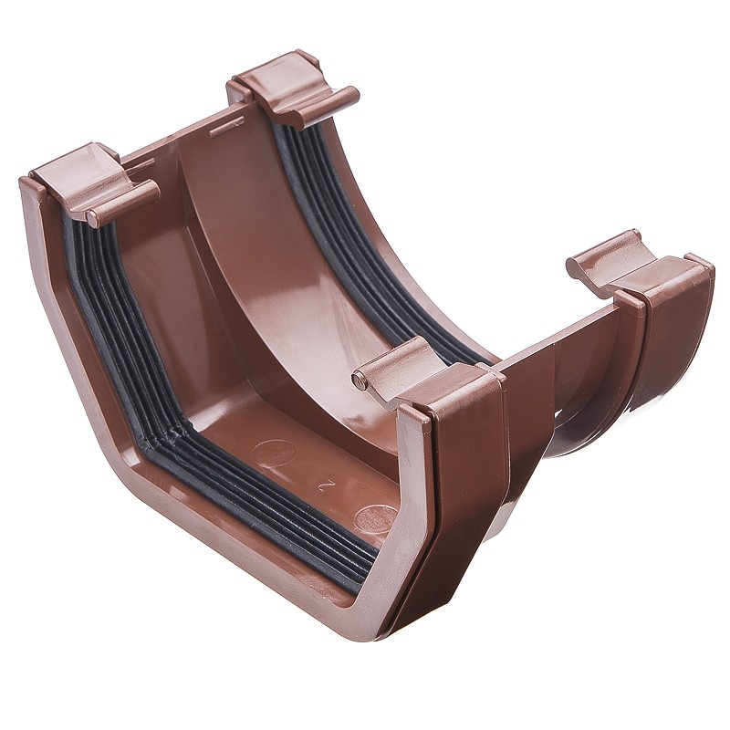 117mm Square Gutter Square To Half Round Adaptor Brown