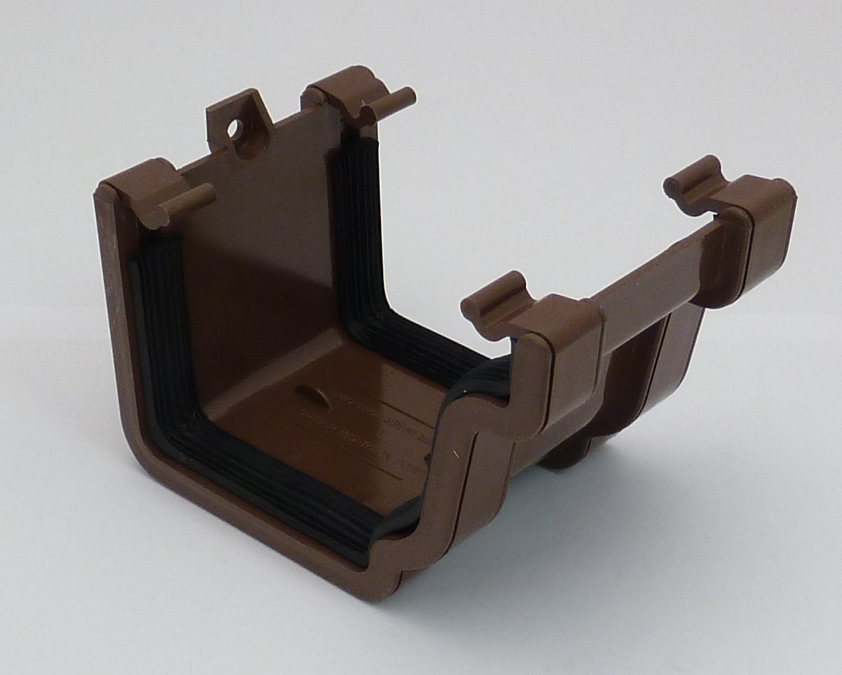 Classic Ogee Gutter Union Bracket Brown Classic Ogee