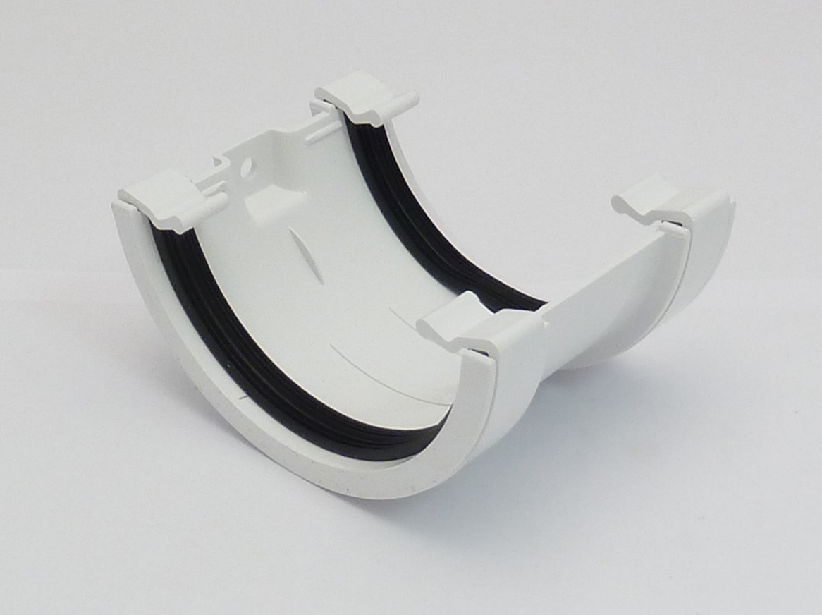 112mm Half Round Gutter Union Bracket White Half Round