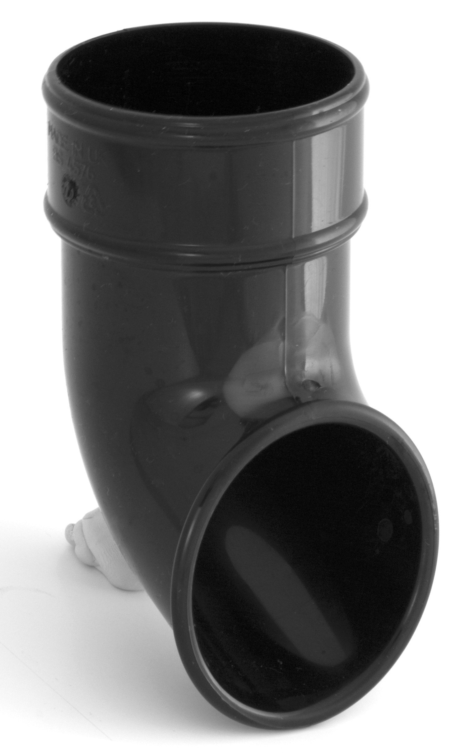 68mm Round Downpipe Shoe Black Round Downpipes Black