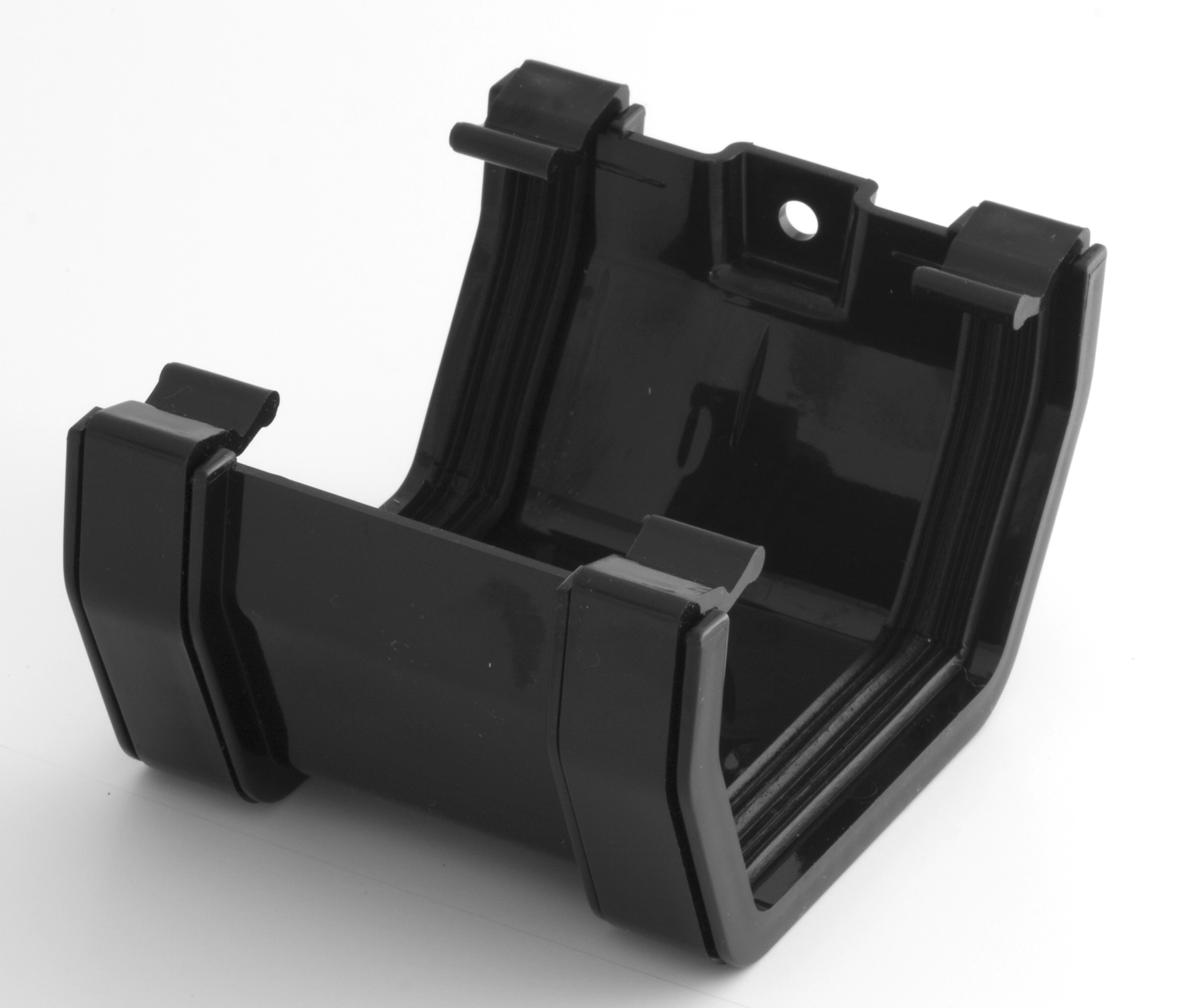 117mm Square Gutter Union Bracket Black Square Gutter