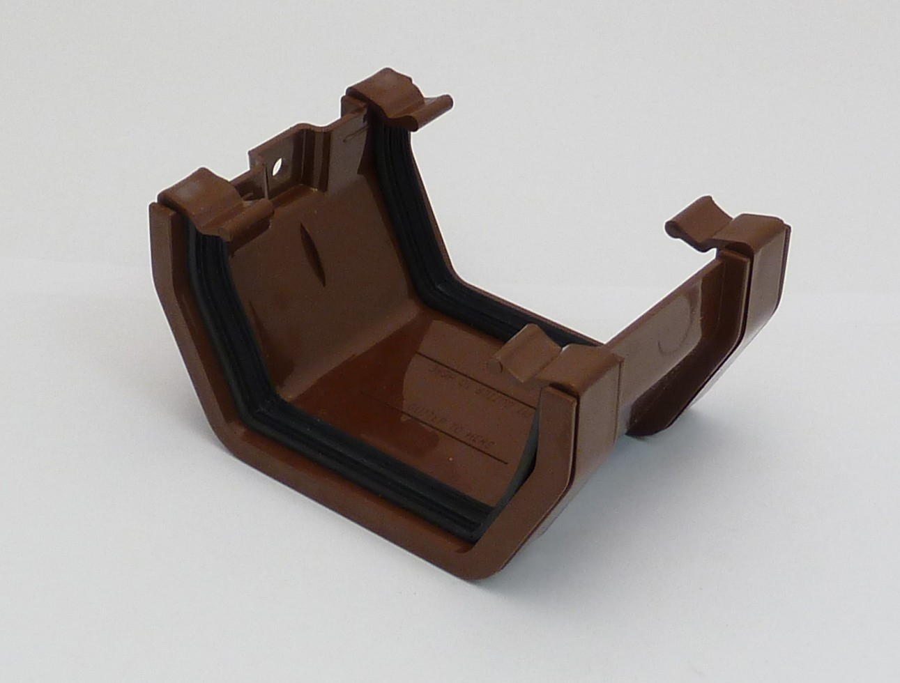 117mm Square Gutter Union Bracket Brown Square Gutter
