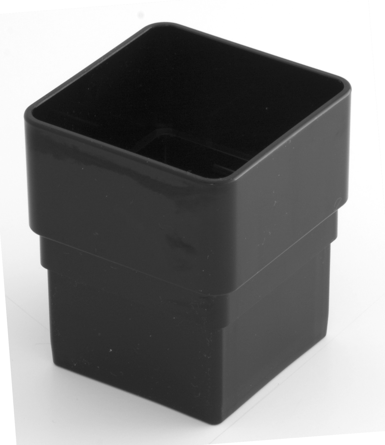 65mm Square Downpipe Connector Black Square Downpipes