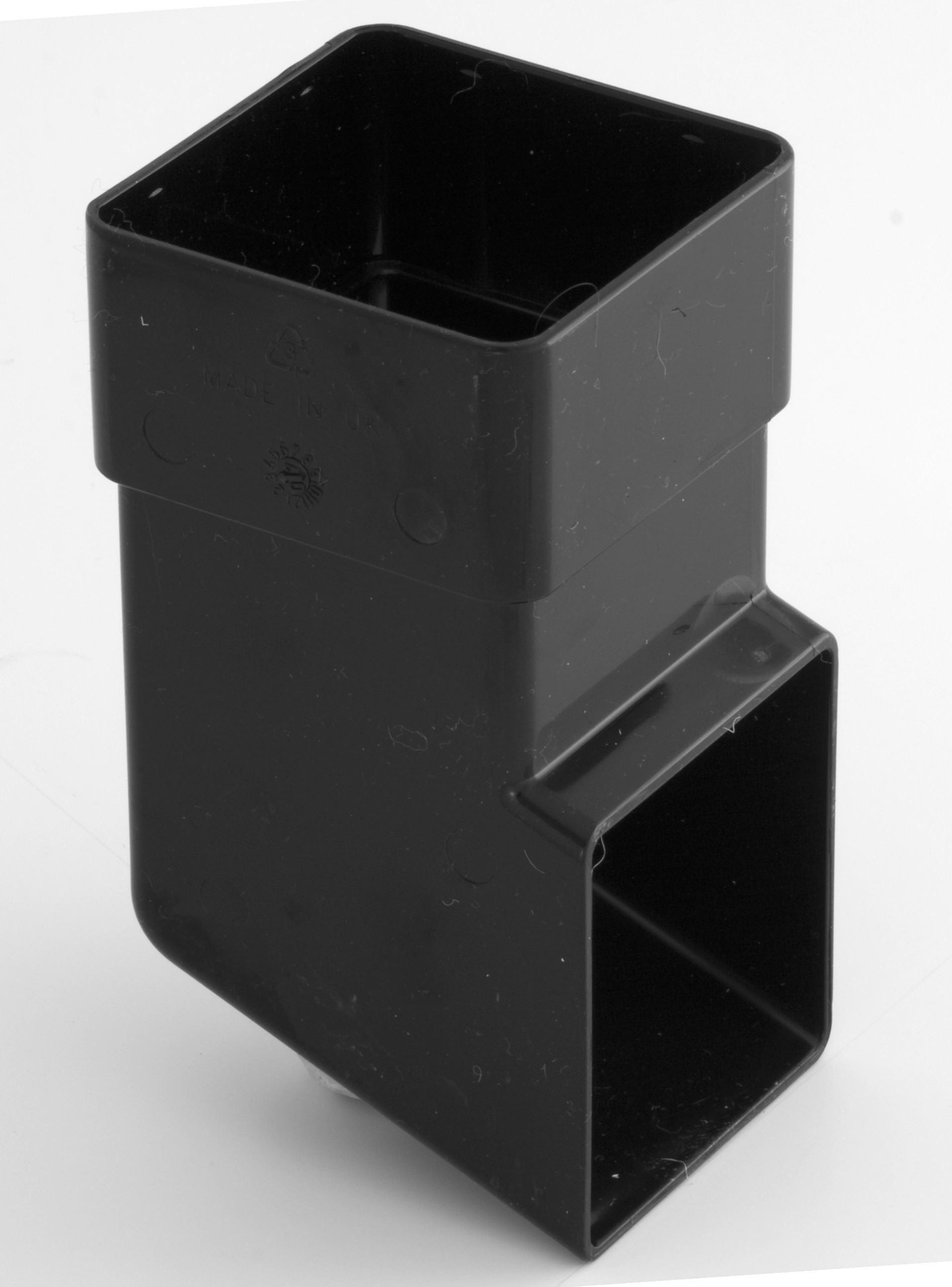 65mm Square Downpipe Shoe Black Square Downpipes Black