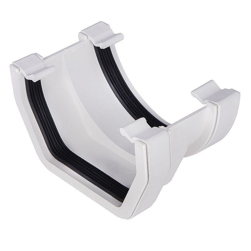 117mm Square Gutter Square To Half Round Adaptor White
