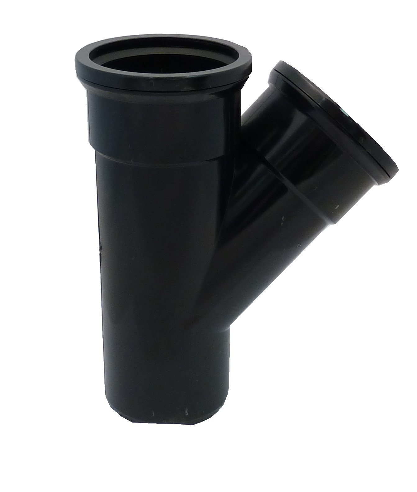 110mm Soil Pipe 135 176 Double Socket Branch Black