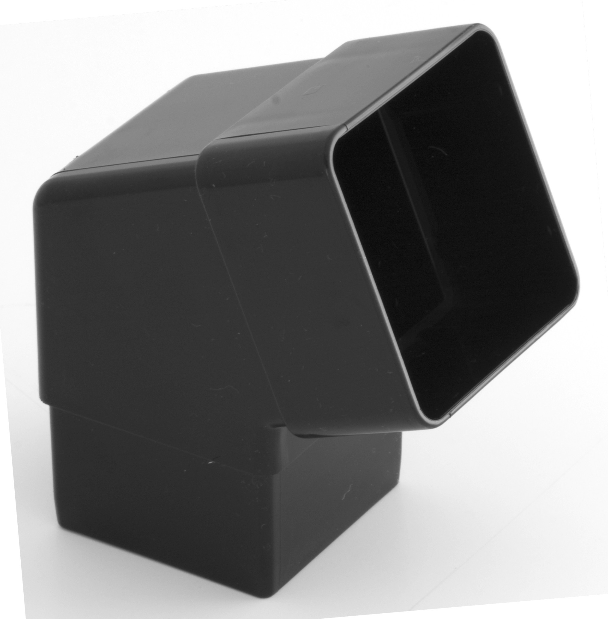 65mm Square Downpipe 112 176 Offset Bend Black Square