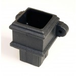 Cast Iron Style Square Downpipe Pipe Connector with lugs