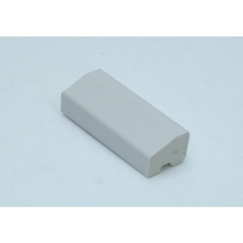 20 x 15mm Chamfered Block / Drip Trim White