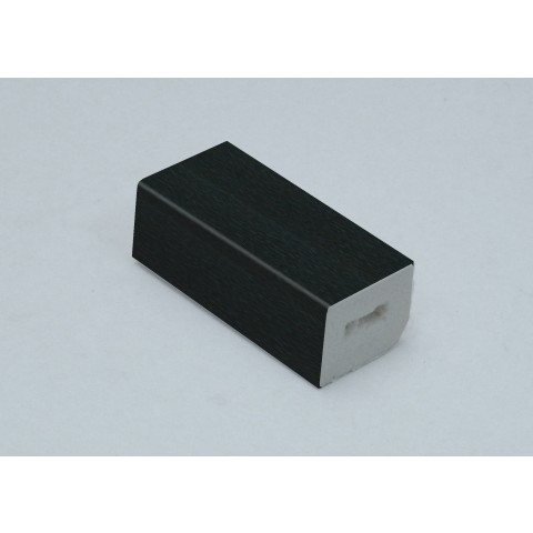 25 x 20mm Block Trim Black Ash