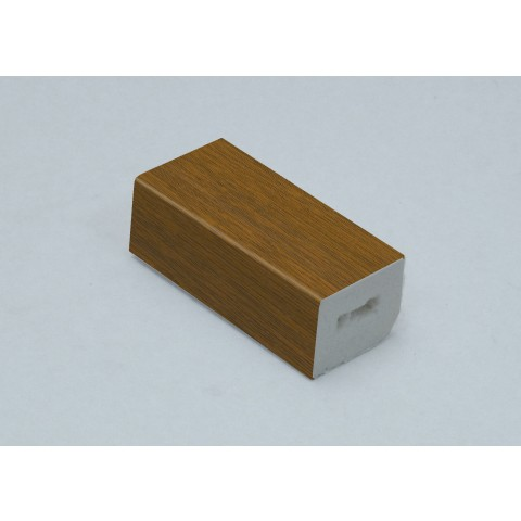 25 x 20mm Block Trim Golden Oak
