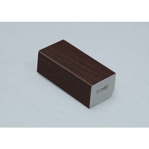 25 x 20mm Block Trim Rosewood