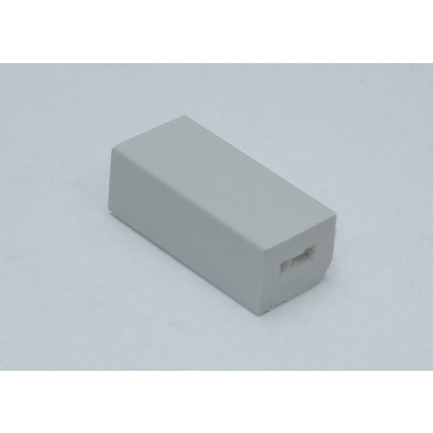 25 x 20mm Block Trim White