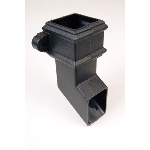 Cast Iron Style Square Downpipe Shoe with lugs