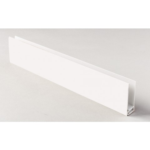 Two Part Top Trim White 5m White