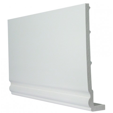 9mm Ogee White Capping Board/Cover Fascia White