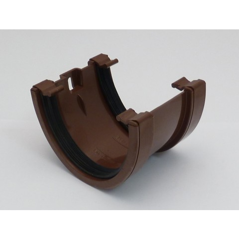 114mm Deepflow Gutter Union Bracket Brown