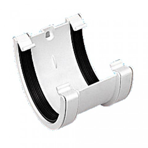 114mm Deepflow Gutter Union Bracket White