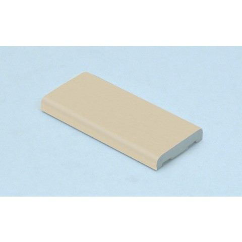 25mm x 6mm D Mould Cream Woodgrain
