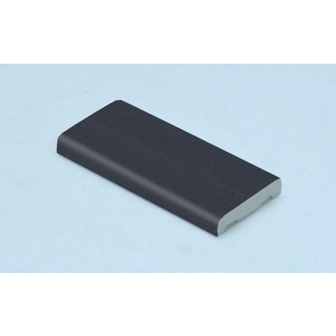 25mm x 6mm D Mould Textured Dark Grey RAL 7016