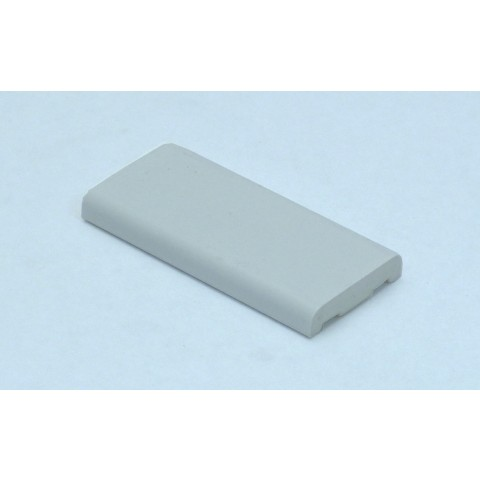25mm x 6mm D Mould White