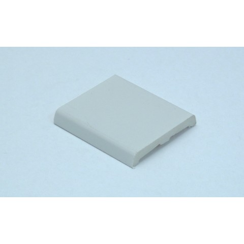 50mm x 7.5mm D Mould White