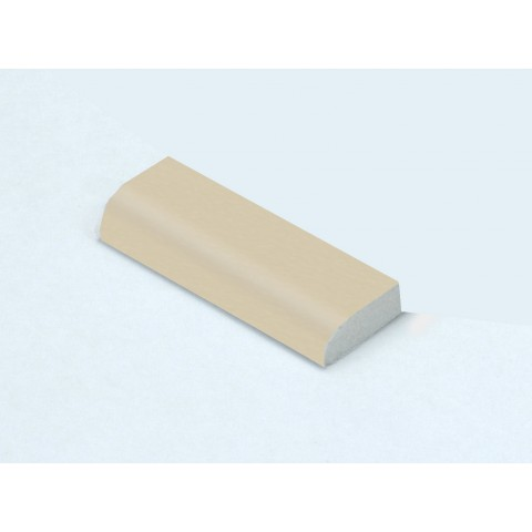 20mm x 6mm Edge Fillet Cream Woodgrain