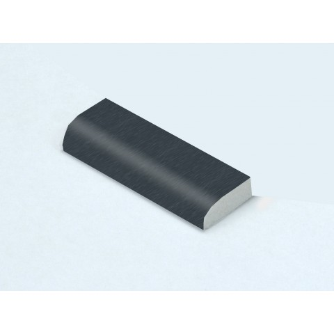 20mm x 6mm Edge Fillet Smooth Dark Grey RAL 7016