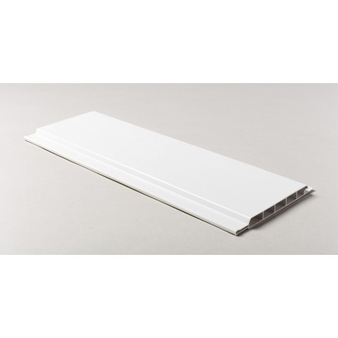 100 x 10mm x 5m Hollow Soffit Board White