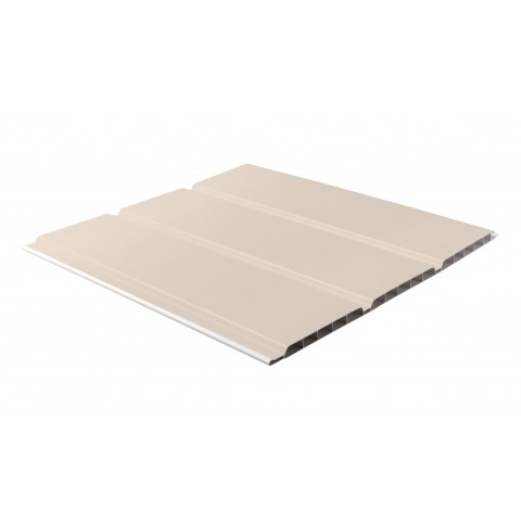 300 x 10mm x 5m Hollow Soffit Board Cream