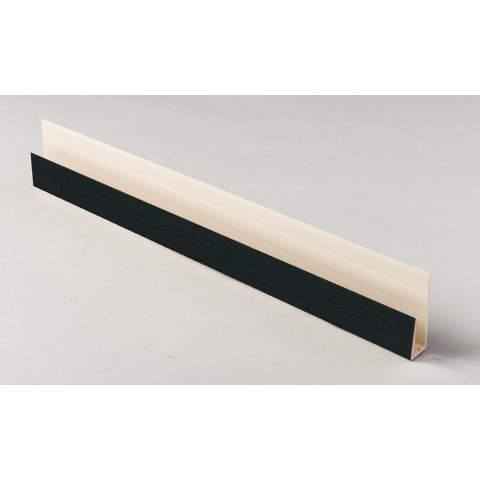 Edge Channel/Soffit Board J-Trim 5m Black Ash