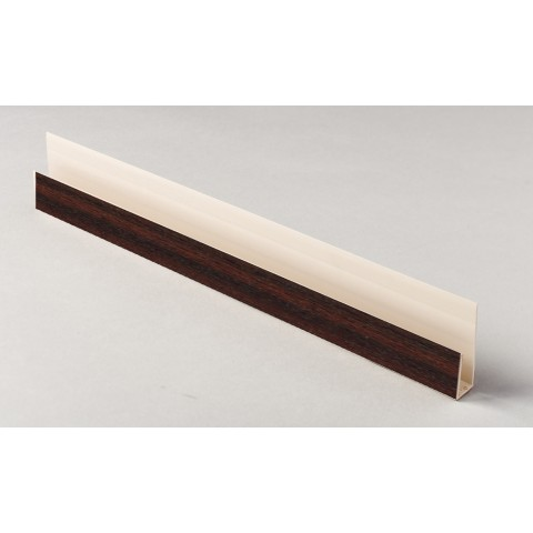 Edge Channel/Soffit Board J-Trim 5m Mahogany
