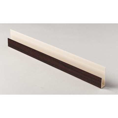 Edge Channel/Soffit Board J-Trim 5m Rosewood