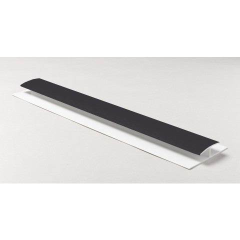 Soffit Board H Joint 5m Dark Grey RAL7016