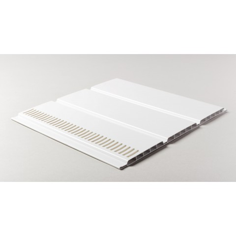 300 x 10mm x 5m Vented Hollow Soffit Board White