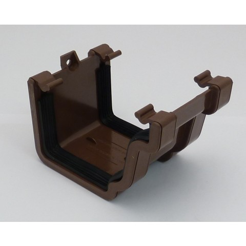 Classic Ogee Gutter Union Bracket Brown