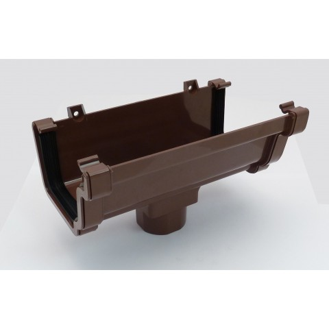 Classic Ogee Gutter Running Outlet Brown
