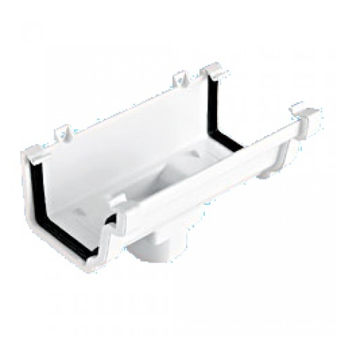 Classic Ogee Gutter Running Outlet White
