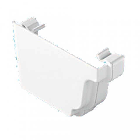 Classic Ogee Gutter External Stopend Left Hand White