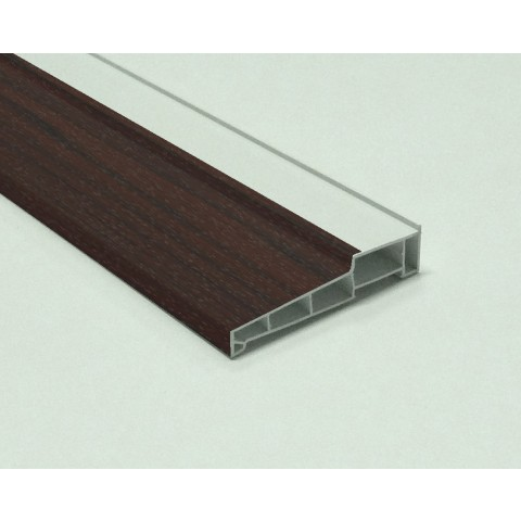 155mm x 5m Window Cill Rosewood on White