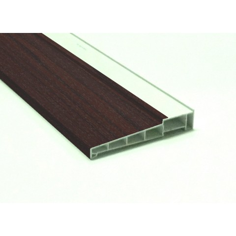185mm x 5m Window Cill Rosewood on White