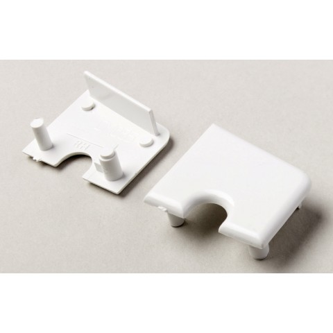 85mm Stub Window Cill End Cap White
