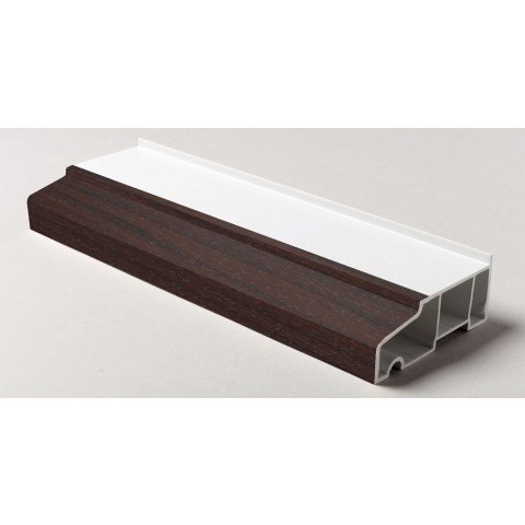 85mm x 5m Stub Window Cill Rosewood on White