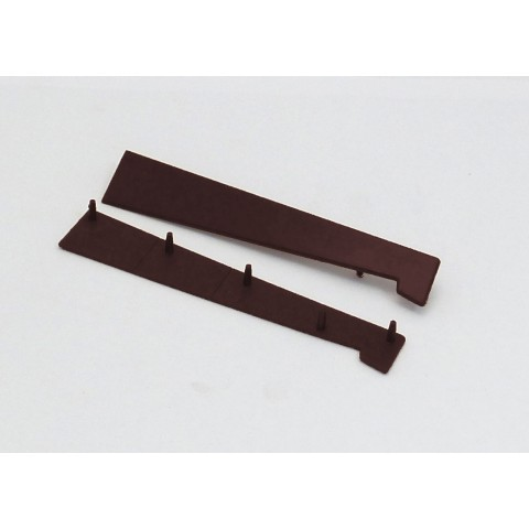 125 - 185mm Universal Window Cill End Cap Brown