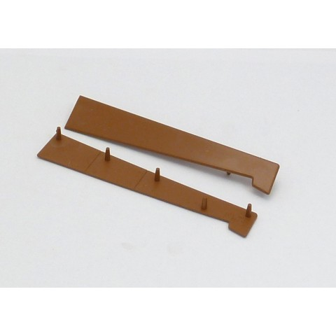 125 - 185mm Universal Window Cill End Cap Caramel
