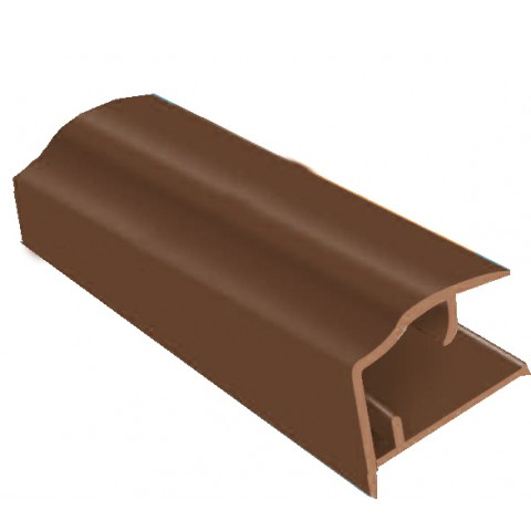 PVC Sheet Closure 2.1m x 10mm Brown